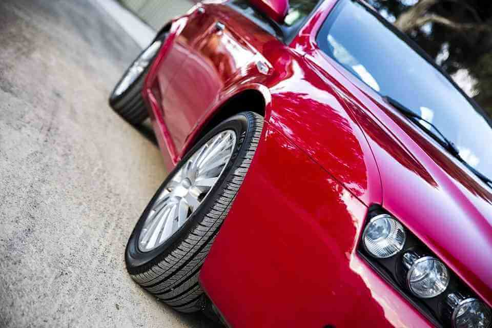Picture of red sports car
